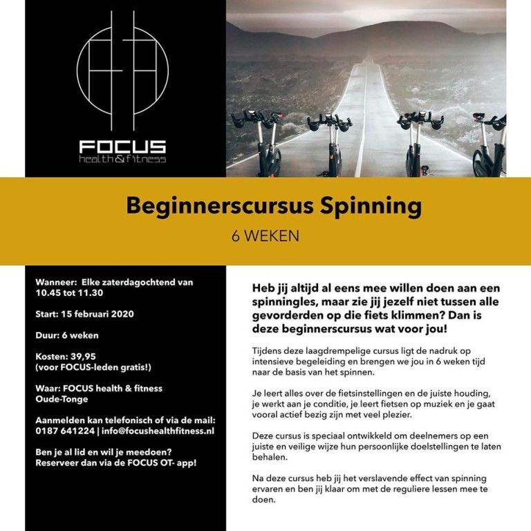 Beginnerscursus Spinning OT